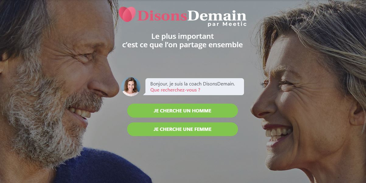 inscription Rencontre mobile avec DisonsDemain par Meetic Petit-Canal